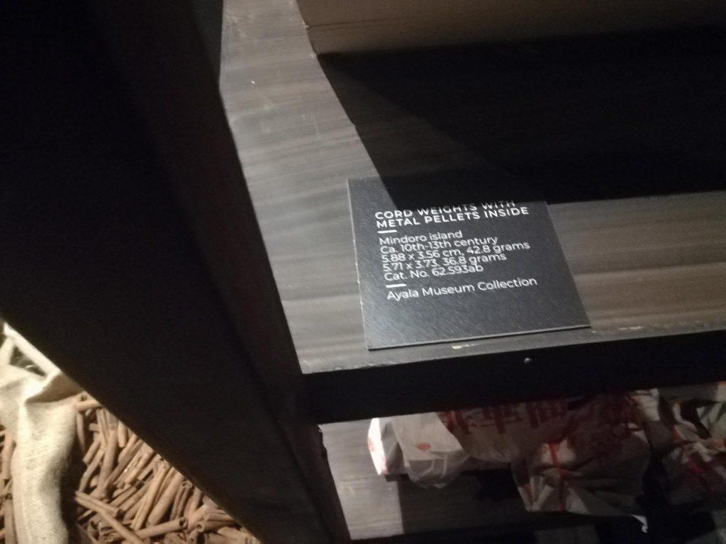 アヤラ博物館黄金のおもり解説