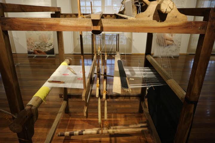pagcoor展示エリア機織り機