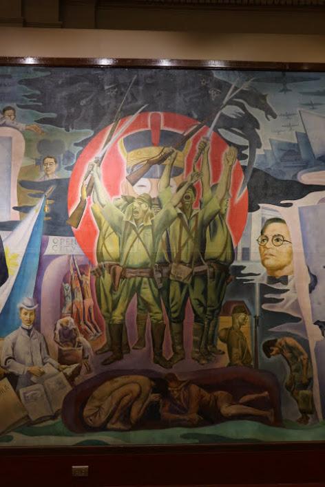 上院セッションホール壁画旧日本軍