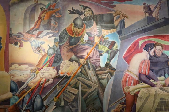 上院セッションホール壁画中国人日本人