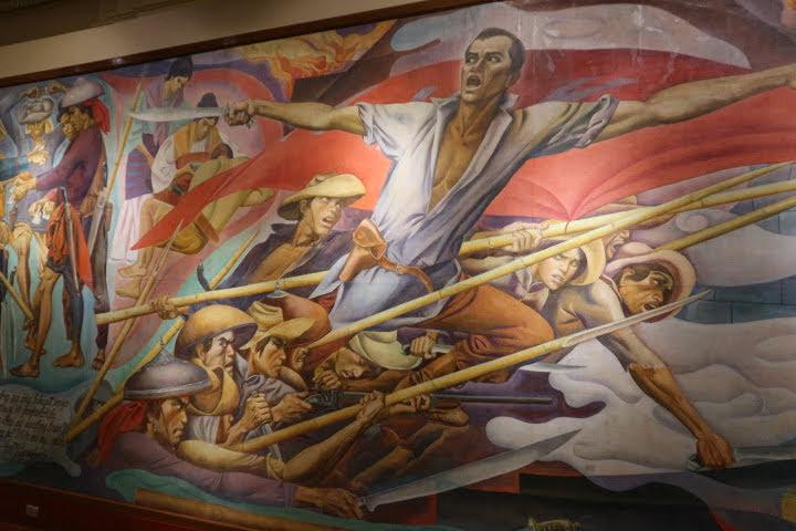 上院セッションホール壁画ボニファシオ