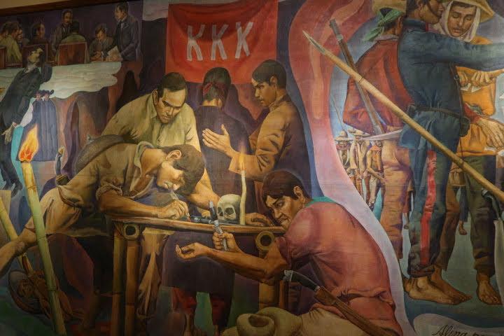 上院セッションホール壁画KKK