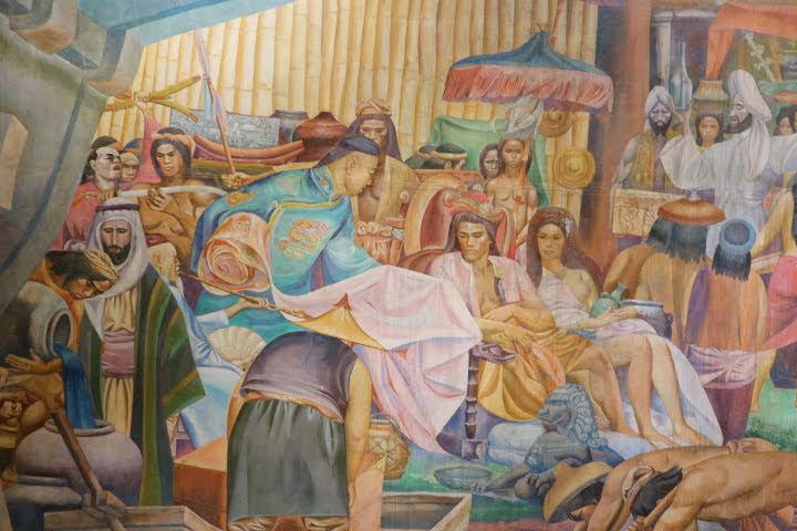 上院セッションホール壁画スペイン植民地前
