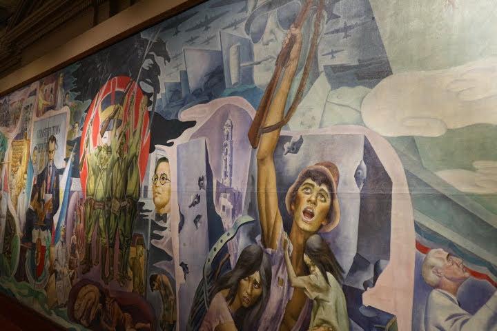 上院セッションホール壁画フィリピン独立後