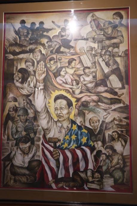 社会風刺画展示マルコス大統領