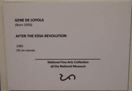 社会風刺画展示AFTER THE EDSA REVOLUTION解説