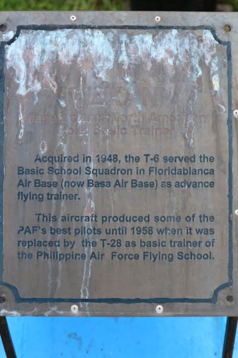 フィリピン空軍博物館T-6解説