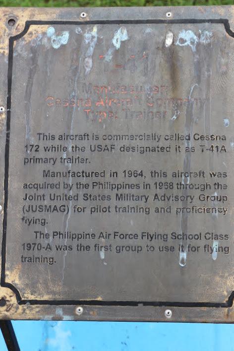 フィリピン空軍博物館セスナ172解説