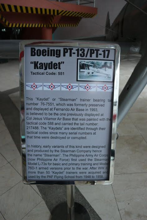 フィリピン空軍博物館Boeing PT-13解説