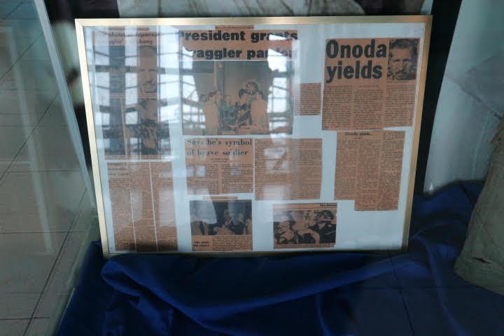 フィリピン空軍博物館小野田さん降伏当時新聞
