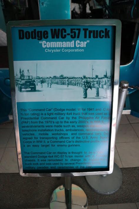 フィリピン空軍博物館クライスラー司令官車解説