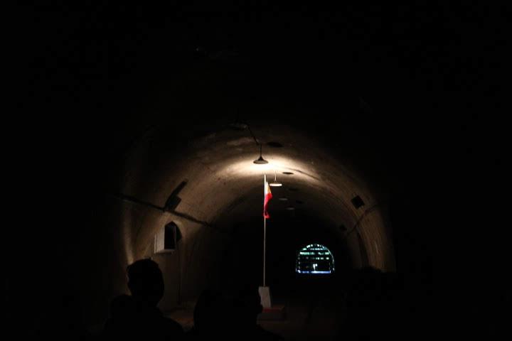 マリンタトンネル内フィリピン国旗掲揚