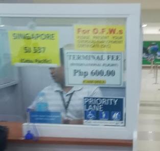 Clark空港ターミナルフィー支払い所