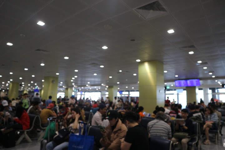 ドンムアン国際線大混雑