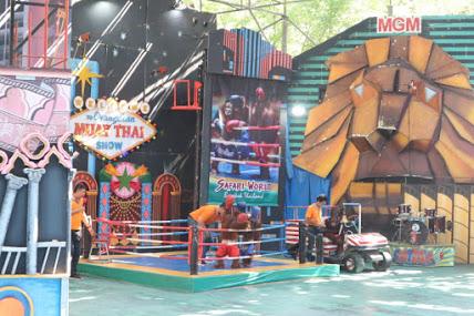 サファリワールドオランウータンボクシングショー