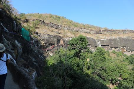 Ajanta遺跡一番奥側から