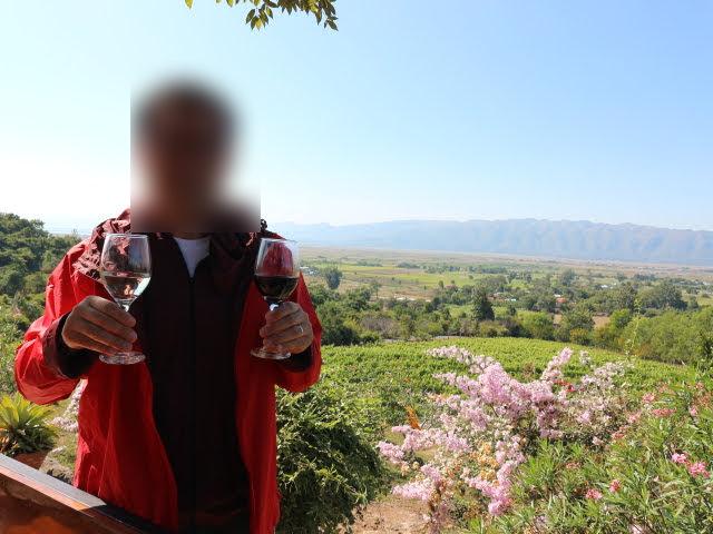 ニャンシュエワイナリーで景色とワインを楽しむ