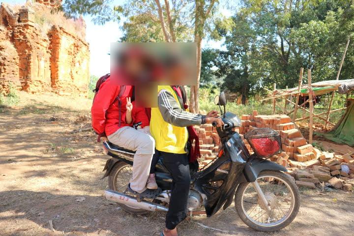 インデインでバイクタクシー