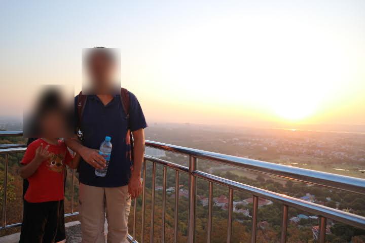 マンダレーヒル山頂夕日