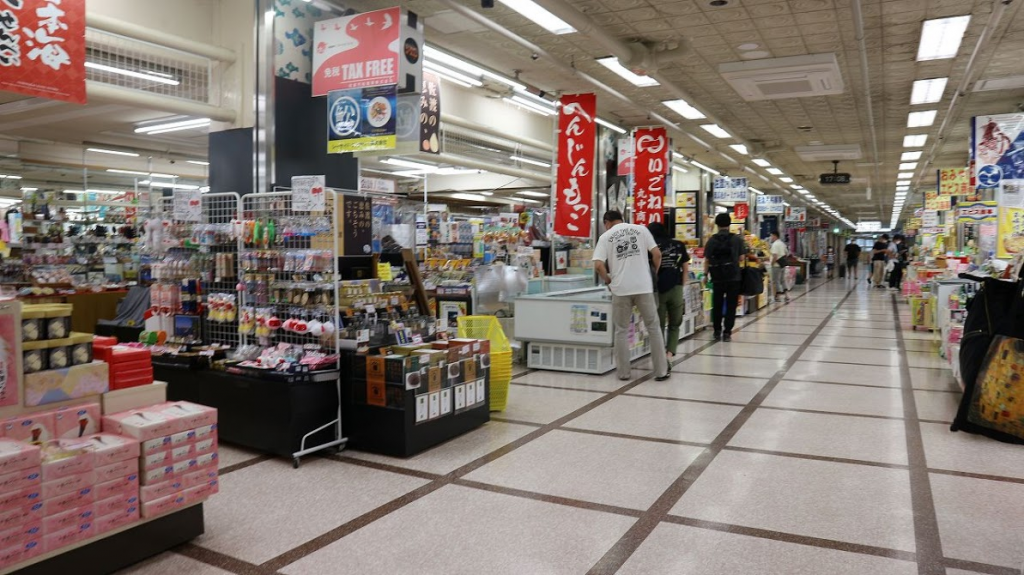 佐渡汽船ターミナルお土産売り場