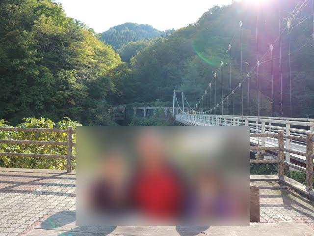月山あさひ博物村吊橋